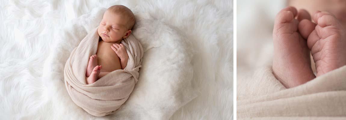 Zauberhaftes Neugeborenes exklusives Fotoshooting Newborn Nürnberg