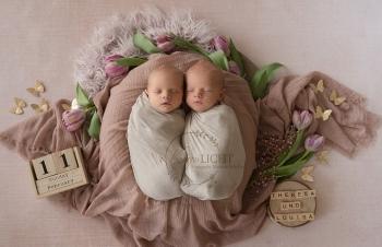 Babyshooting mit Zwillingen